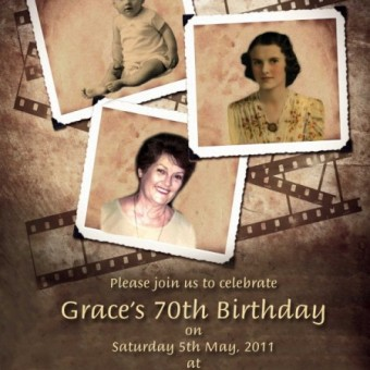 70th Birthday Invitation female