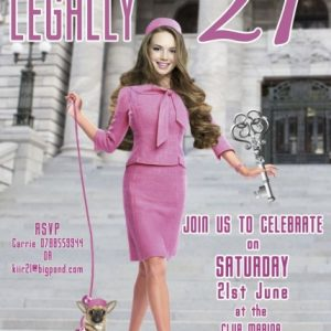Legally blonde invitation
