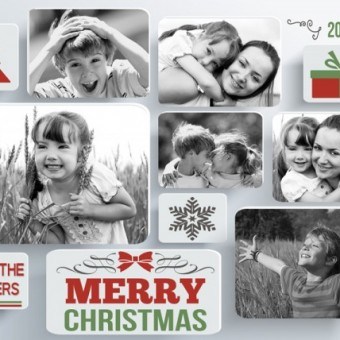 Black and White Christmas Cards