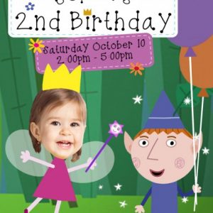Ben and Holly Little Kingdom invitation