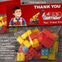 Lego favour bag topper