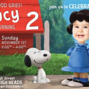 Lucy Van Pelt Birthday Invitation