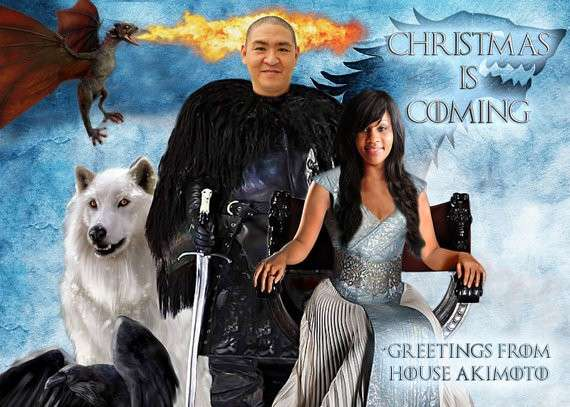 Game of Thrones with Dire Wolf and eagle
