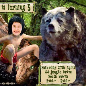Jungle Book Movie Invitation