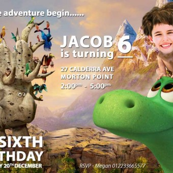 The Good Dinosaur Invitation