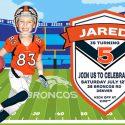 Denver Broncos Birthday Invitation