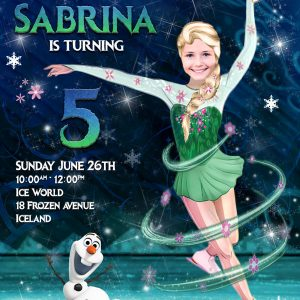 Frozen Fever skating invitation