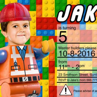 Lego Box Birthday Invitation