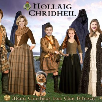Outlander Scotland Christmas card