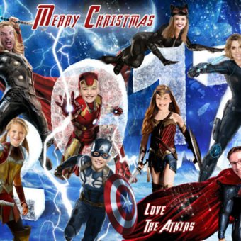 SUPERHERO Christmas card