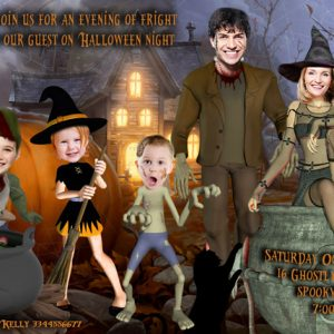 Family Photo Halloween Invitation