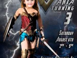 Wonderwoman Invitation