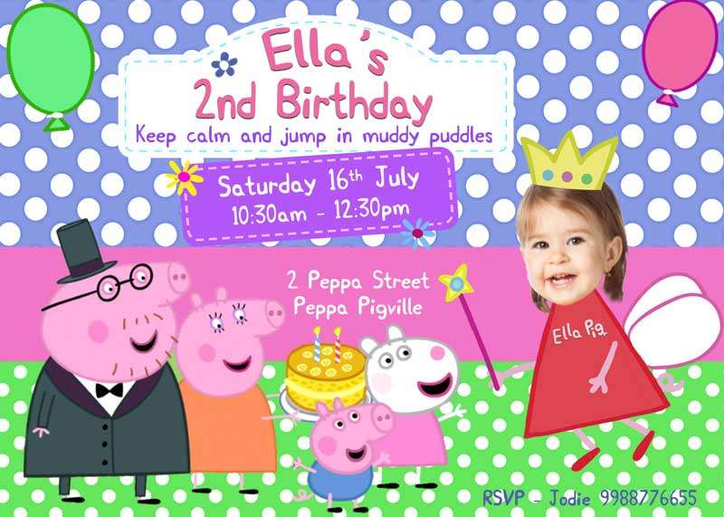 Pig Birthday Invitation