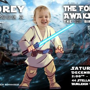 Baby Luke Skywalker Invitation