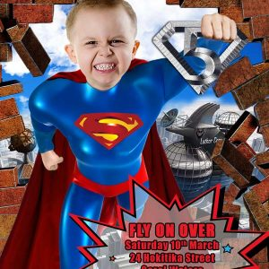 Superman Boys Birthday Invitation