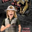 Jurassic thank you card- girl