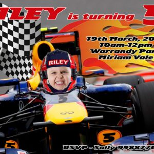 Racing Car Driver Invitation