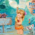 Baby Moana Invitation