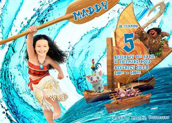 Moana Birthday Invitation (child)
