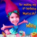 Princess Poppy Thank you card