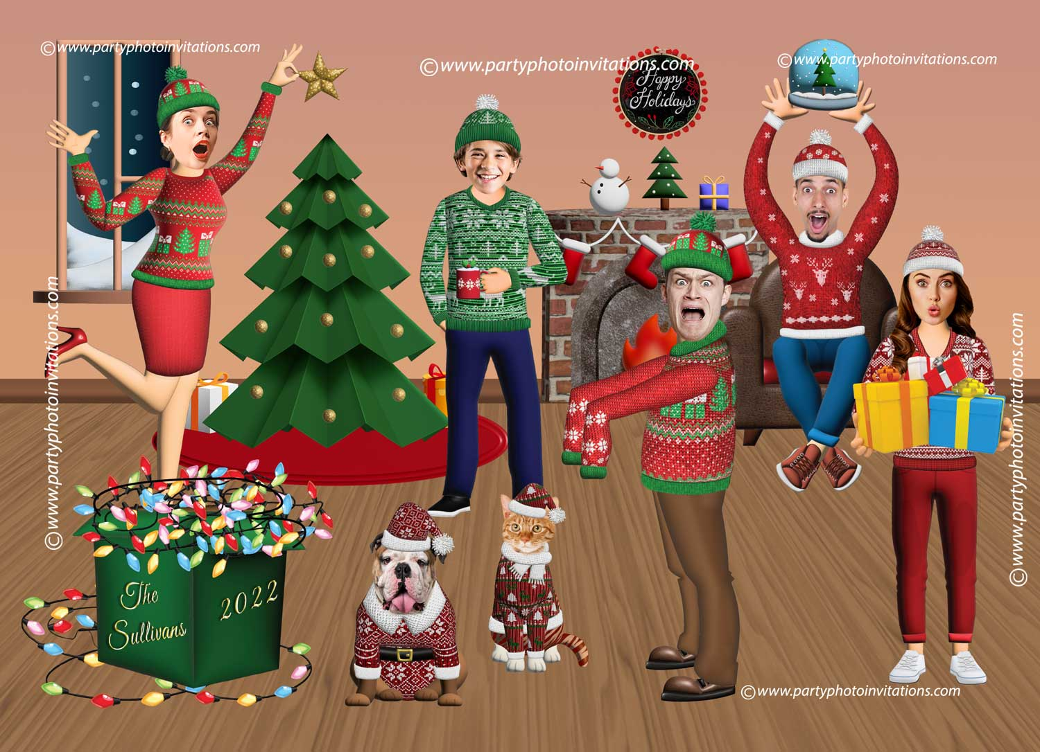 Ugly Sweater Funny Christmas card