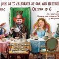 Alice in Wonderland Custom Invitation