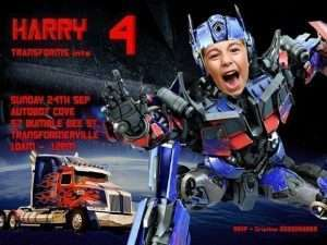 Optimus Prime Invitation