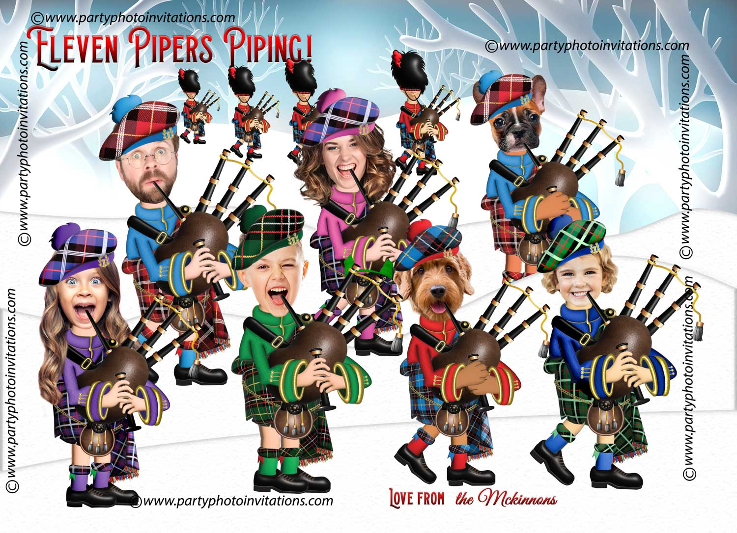 12 Days of Christmas Funny Family Card