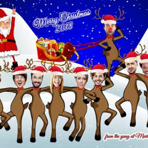 Dancing Reindeer Christmas card