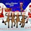 Family Reindeer Chistmas caricature