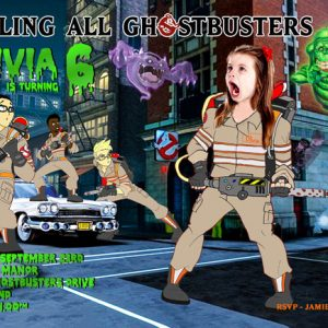Ghostbusters Birthday card