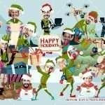 Retro Elves Corporate Christmas Card