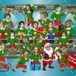 Santa Workshop Company Card