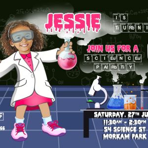 Scientist Girl Invitation